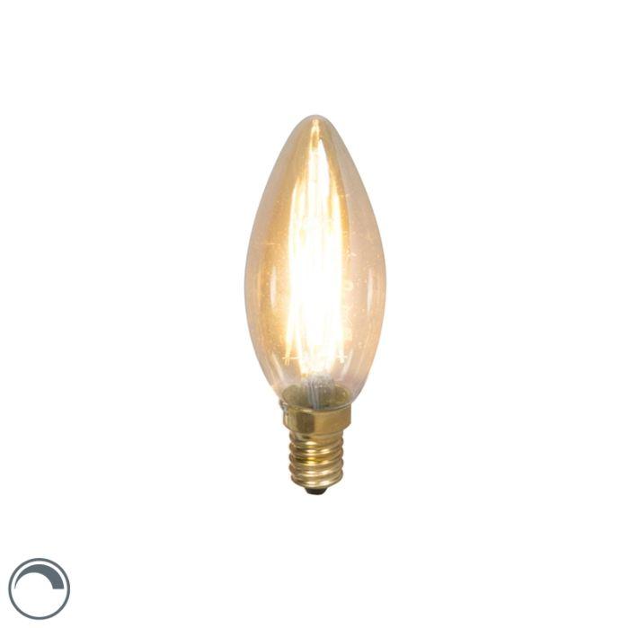E14-dimbare-LED-filament-kaarslamp-3,5W-200lm-2100-K