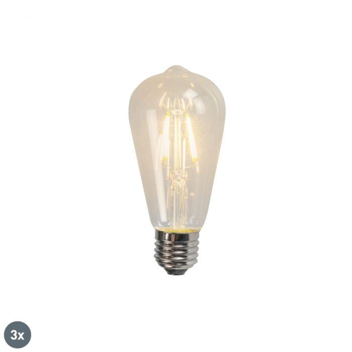 Set-van-3-E27-LED-filament-lamp-ST64-4W-320lm-2700K
