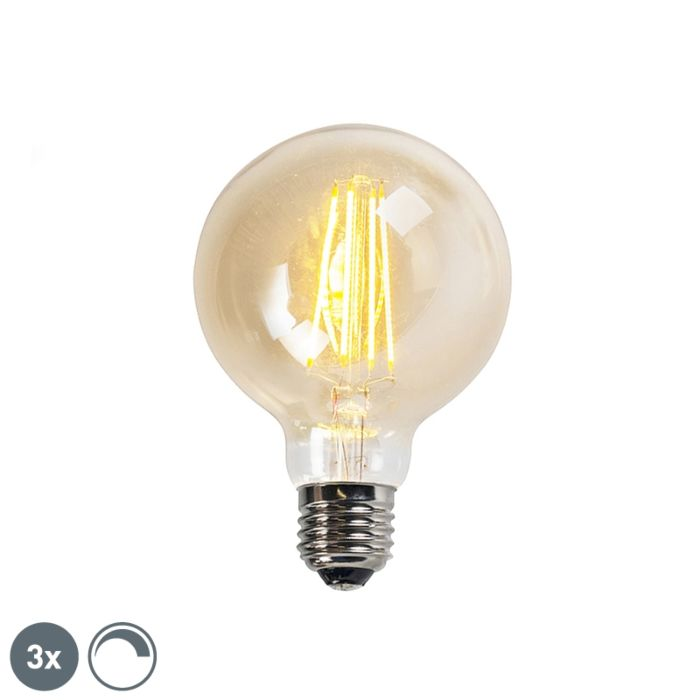 Set-van-3-E27-dimbare-LED-Filament-lampen-goldline-G95-5W-450LM-2200K
