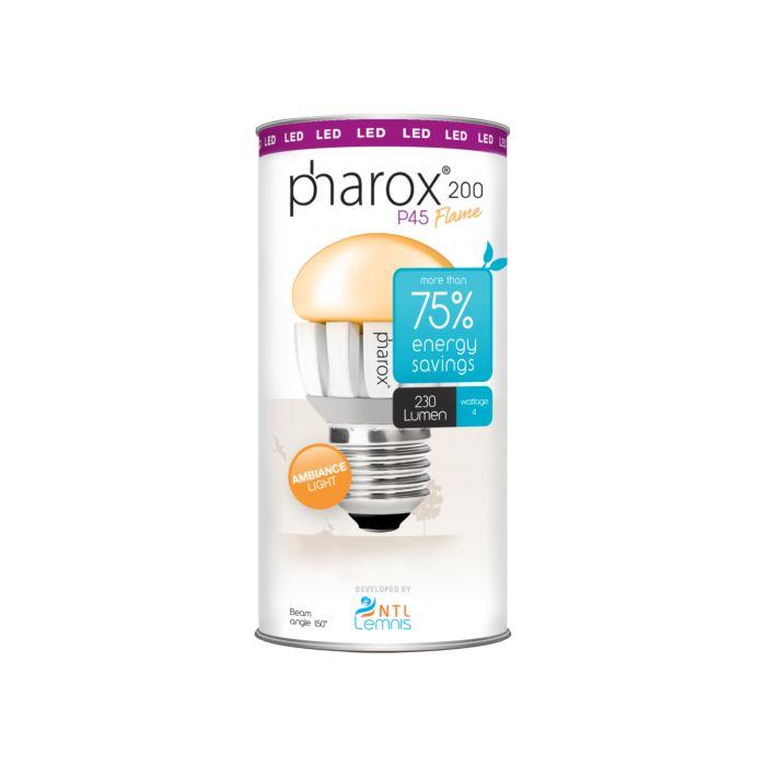 Pharox-LED-lamp-200-P45-Flame-E27-4W