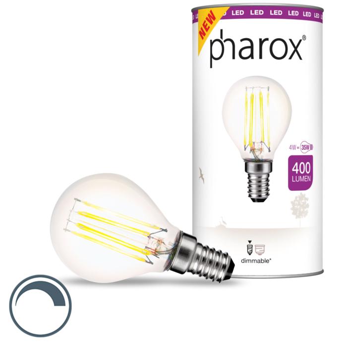 E14-dimbare-LED-kogellamp-Pharox-4W-400-lm-2700-K