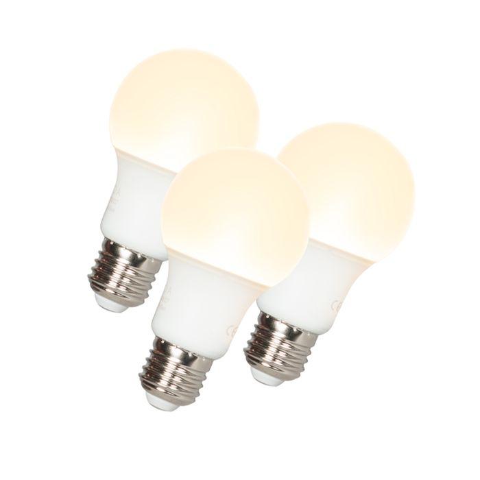 Set-van-3-LED-lamp-A60-E27-9W-3000K
