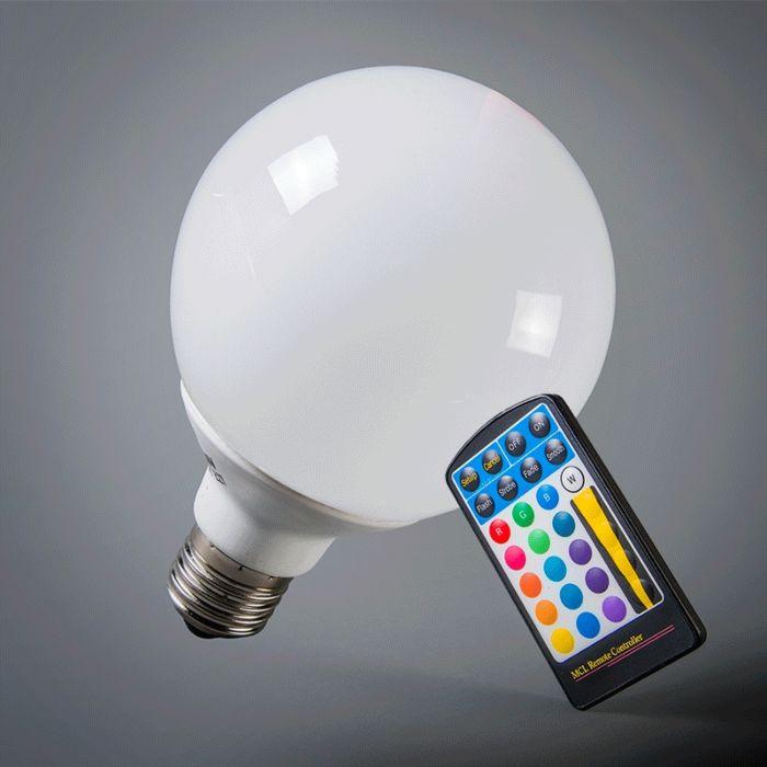 LED-globe-E27-RGB-95mm-met-afstandsbediening