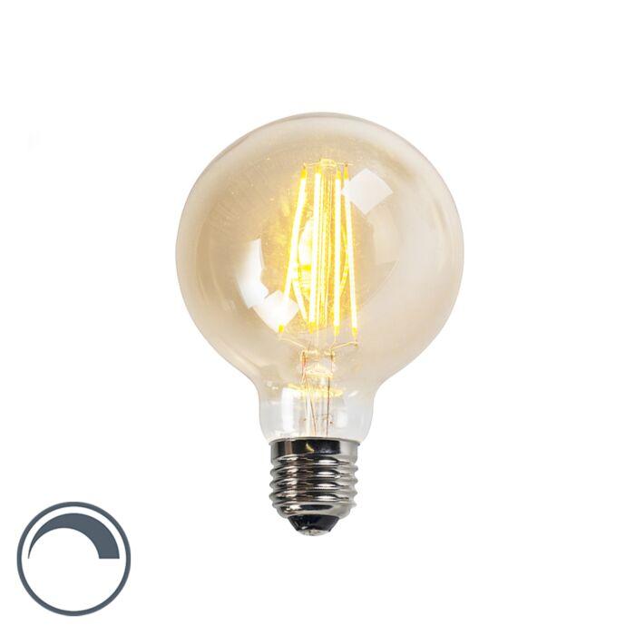 Filament-LED-lamp-G95-5W-2200K-goud-dimbaar