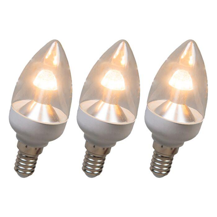LED-kaarslamp-E14-4W-250-lumen-warm-wit-Dimbaar-set-van-3