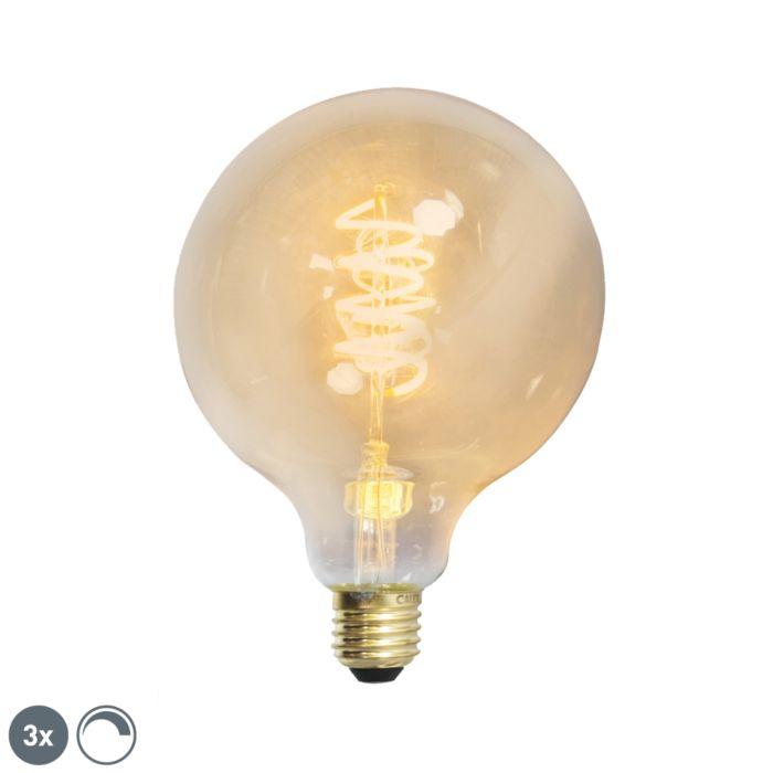 Set-van-3-E27-dimbare-LED-gedraaid-filament-G125-goldline