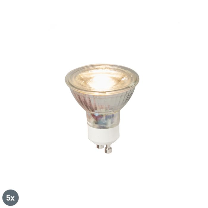 Set-van-5-GU10-LED-lamp-COB-5W-380LM-3000K