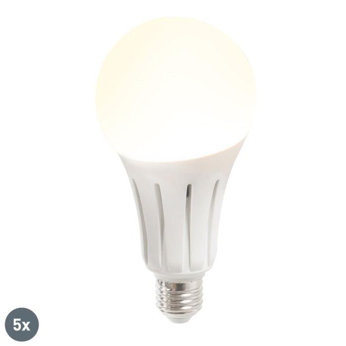 Set-van-5-LED-lamp-B80-24W-E27-warmwit