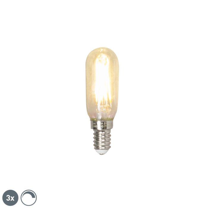 Set-van-3-E14-dimbare-LED-T25L-filament-buislamp-3W-310-lumen-2700K