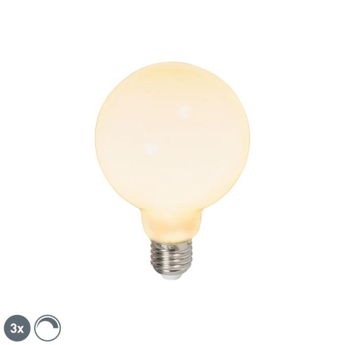 Set-van-3-LED-globelamp-E27-240V-6W-650lm-dimbaar