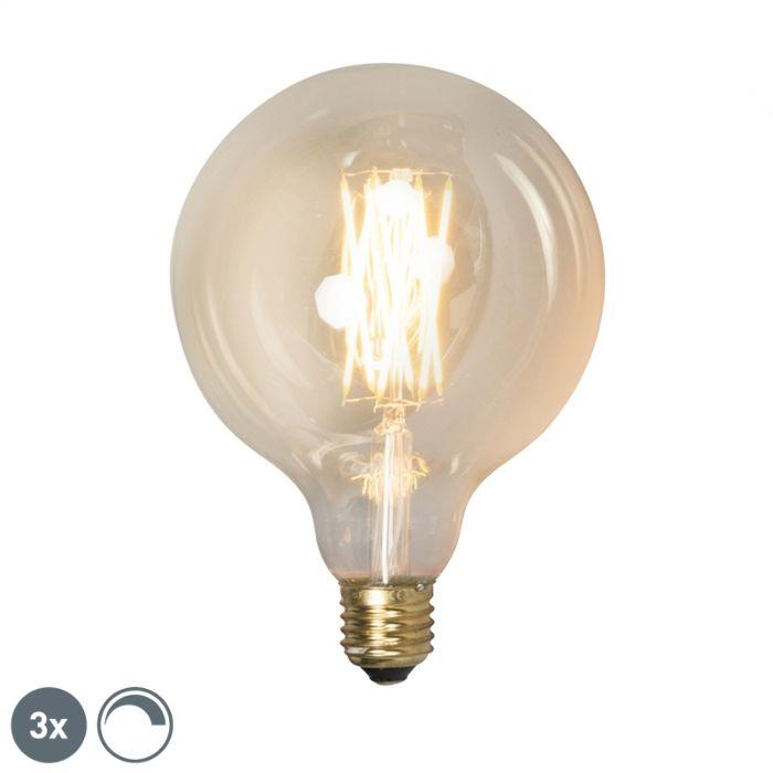Set-van-3-E27-dimbare-LED-lampen-G125-goldline-320lm-2100-K