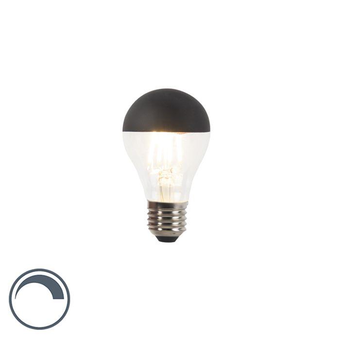 E27-dimbare-LED-filamentlamp-kopspiegel-A60-zwart-350lm-2700K-