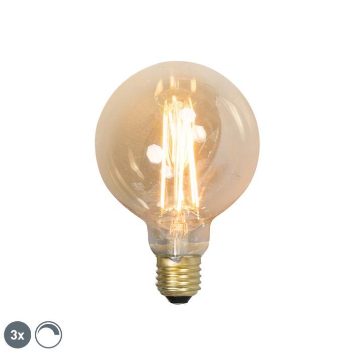 Set-van-3-E27-dimbare-LED-filament-lampen-G95-goldline-2100K