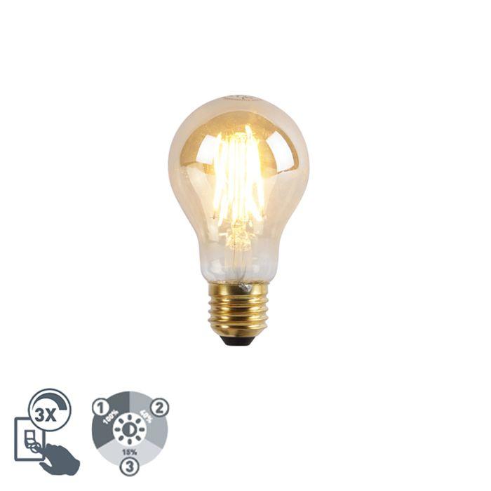 E27-dimbare-LED-lamp-A60-goldline-3-staps-dimbaar-5W-2200K