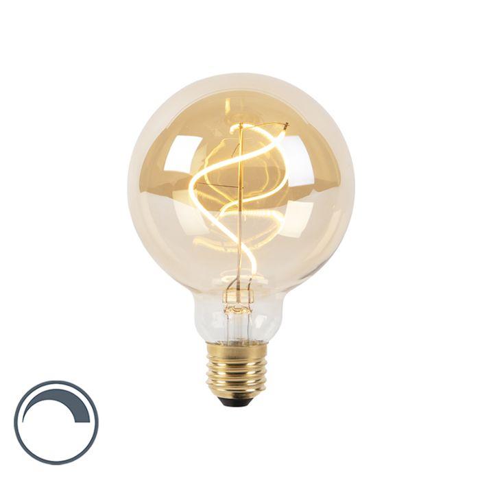 E27-dimbare-LED-spiraal-filament-lamp-G95-goldline-200lm-2100K