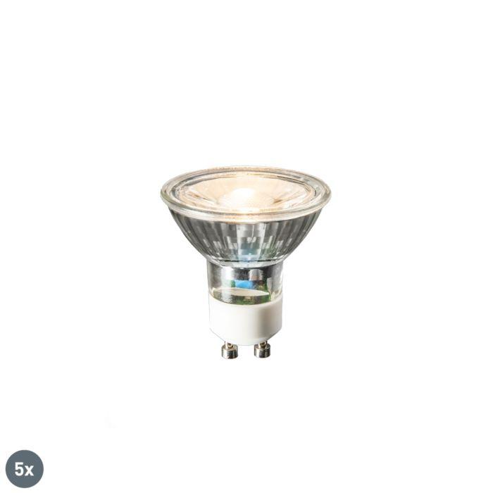 Set-van-5-GU10-LED-lampen-COB-3W-230lm-2700K