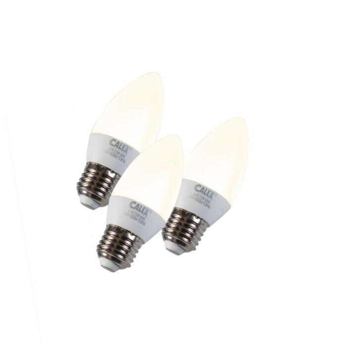 Set-van-3-Kaarslamp-LED-E27-5W-240V-2700K-dimbaar