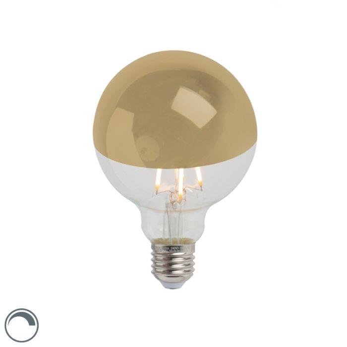 E27-dimbare-LED-filamentlamp-kopspiegel-G95-goud-280lm-2300K-