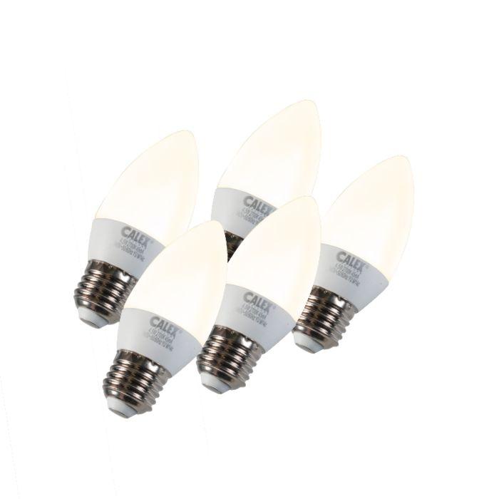 Set-van-5-kaarslamp-LED-E27-5W-240V-2700K-dimbaar
