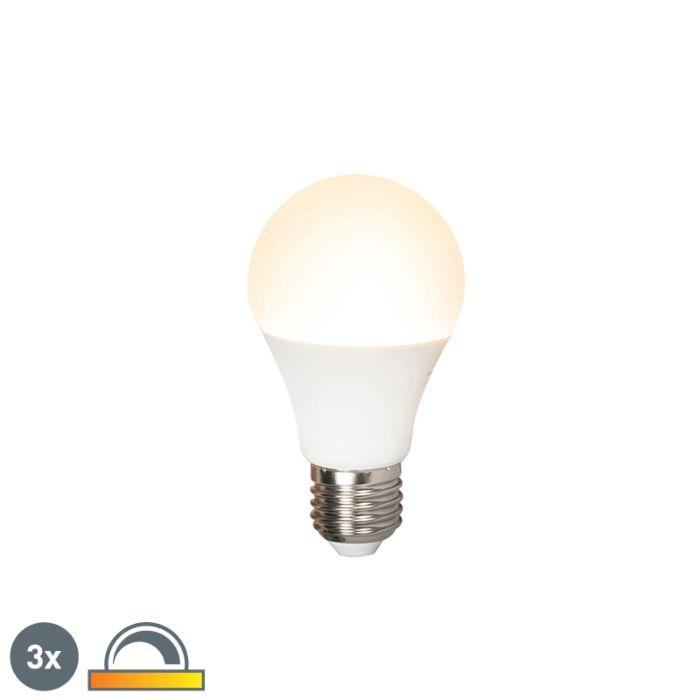Set-van-3-LED-lamp-E27-240V-7W-510lm-A60-dimbaar