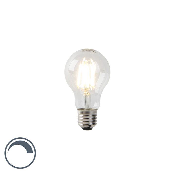LED-lamp-A60-E27-7W-2700K-helder-filament-dimbaar