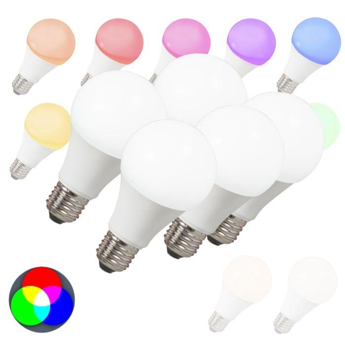 Set-van-5-LED-lamp-E27-240V-7W-500lm-A60-Smart-Light
