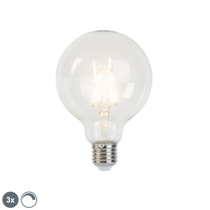 Set-van-3-E27-dimbare-LED-filament-lampen-G95-5W-470-lm-2700K