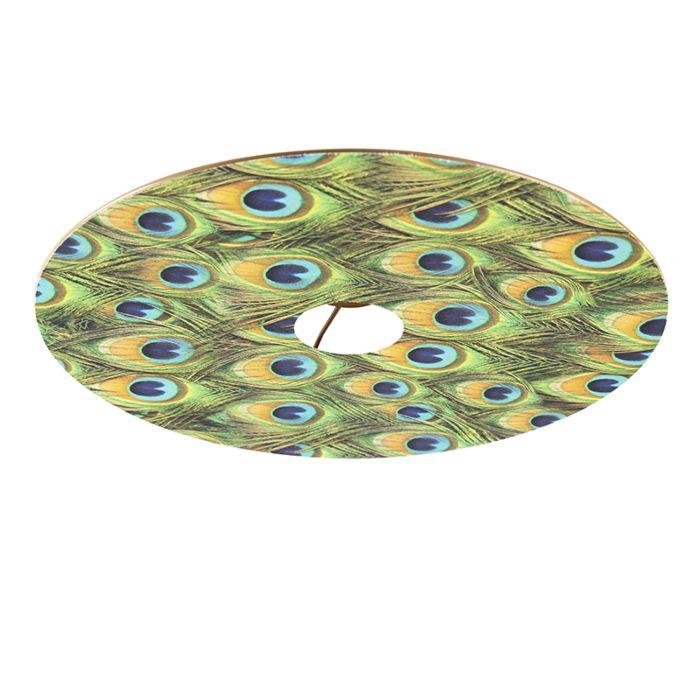 Velours-platte-lampenkap-pauw-dessin-met-goud-45-cm
