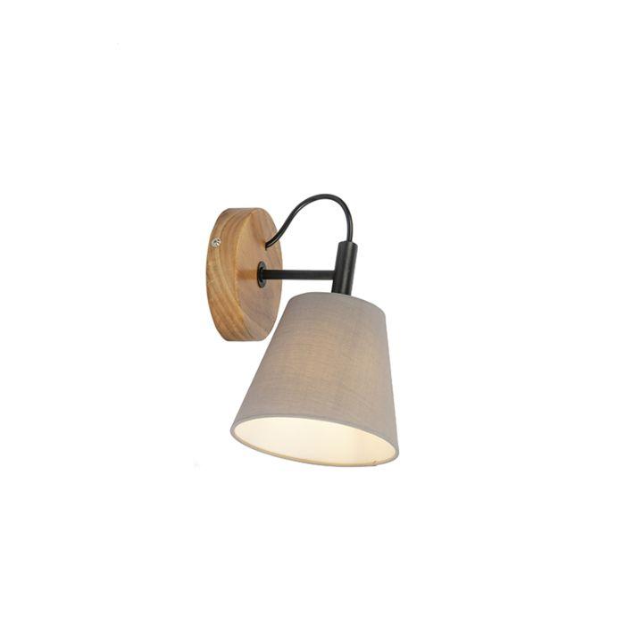 Landelijke-wandlamp-hout-met-grijs---Cupy