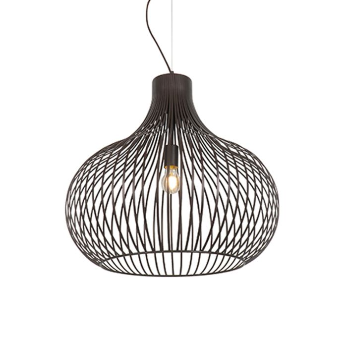 Moderne-hanglamp-bruin-60-cm---Frances-Q