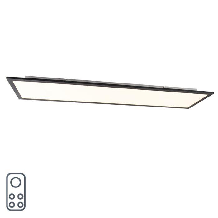 Modern-LED-paneel-zwart-120-cm-incl.-LED-en-dimmer---Liv-Q
