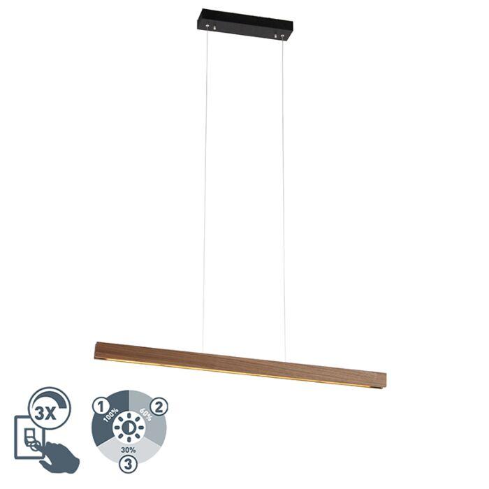 Moderne-hanglamp-hout-incl.-LED-3-staps-dimbaar---Holz