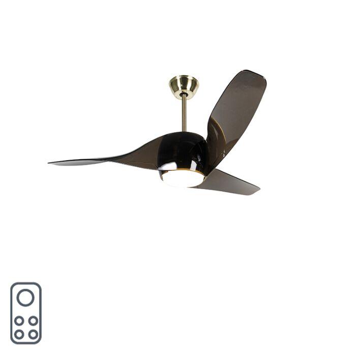 Plafondventilator-messing-met-afstandsbediening-incl.-LED---Sirocco-50