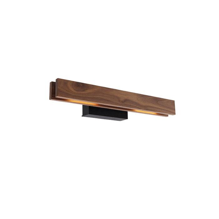 Landelijke-wandlamp-hout-incl.-LED---Holz