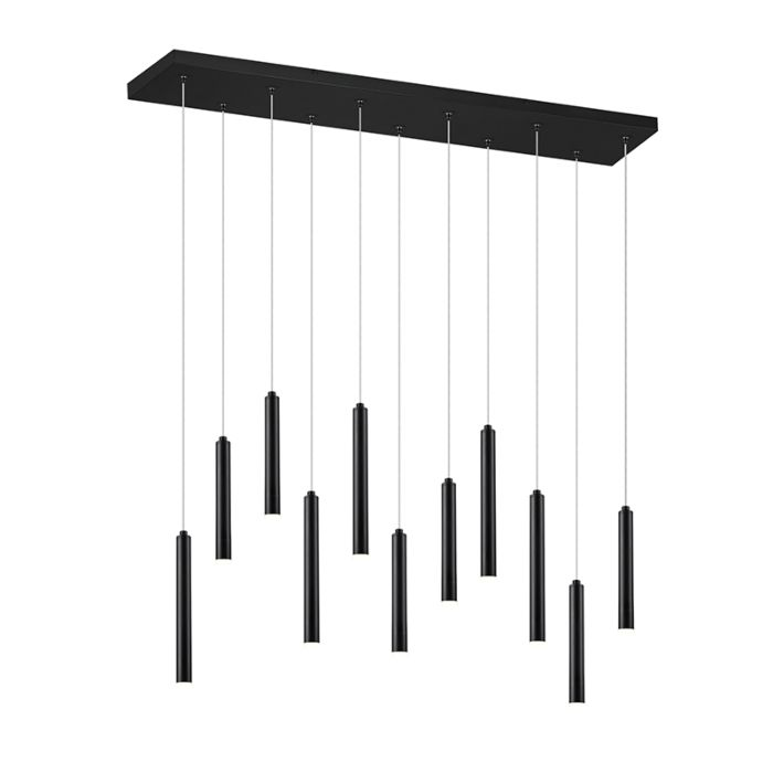 Hanglamp-zwart-incl.-LED-3-staps-dimbaar-11-lichts---Tubas