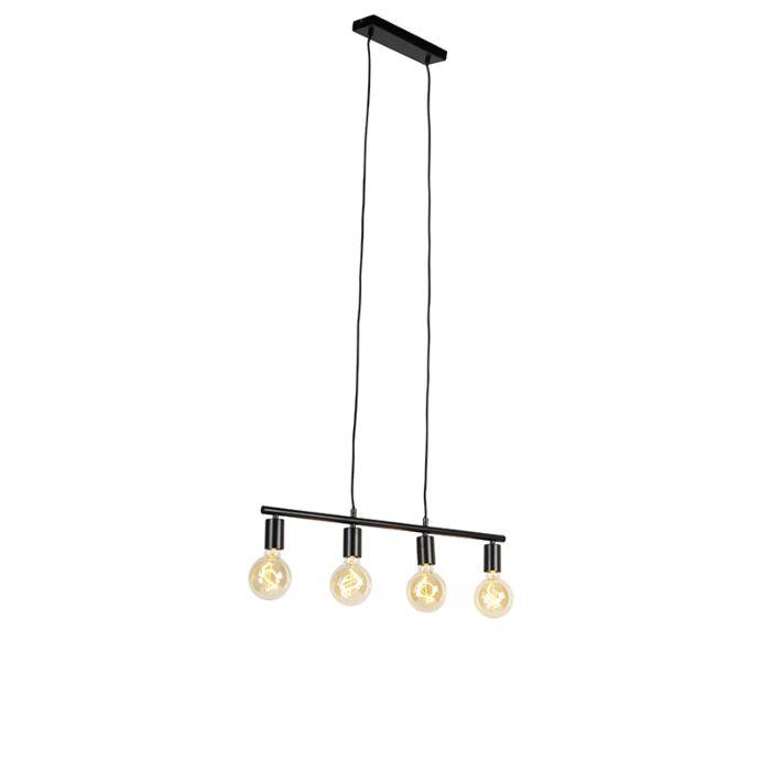 Moderne-hanglamp-zwart-4-lichts---Sydney