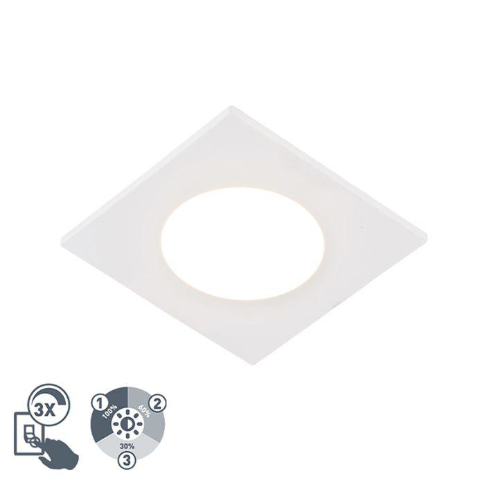 Moderne-inbouwspot-wit-incl.-LED-3-staps-dimbaar-IP65---Simply
