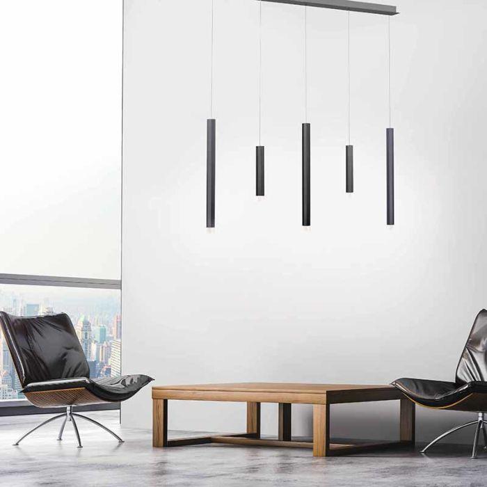 Design-hanglamp-zwart-incl.-LED-5-lichts---Maglyte