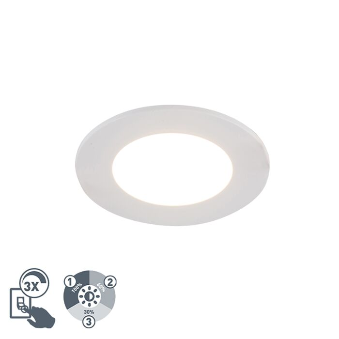 Moderne-inbouwspot-wit-incl.-LED-3-staps-dimbaar-IP65---Blanca