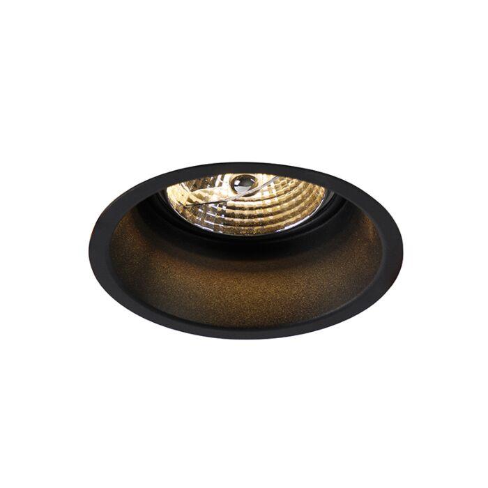 Moderne-ronde-inbouwspot-zwart-AR70---Dept