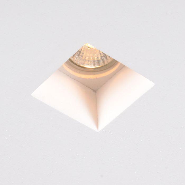 Inbouwspot-wit-12-cm-vierkant---Gypsy-Stucco