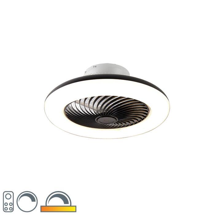 Plafondventilator-zwart-incl.-LED-met-afstandsbediening---Clima