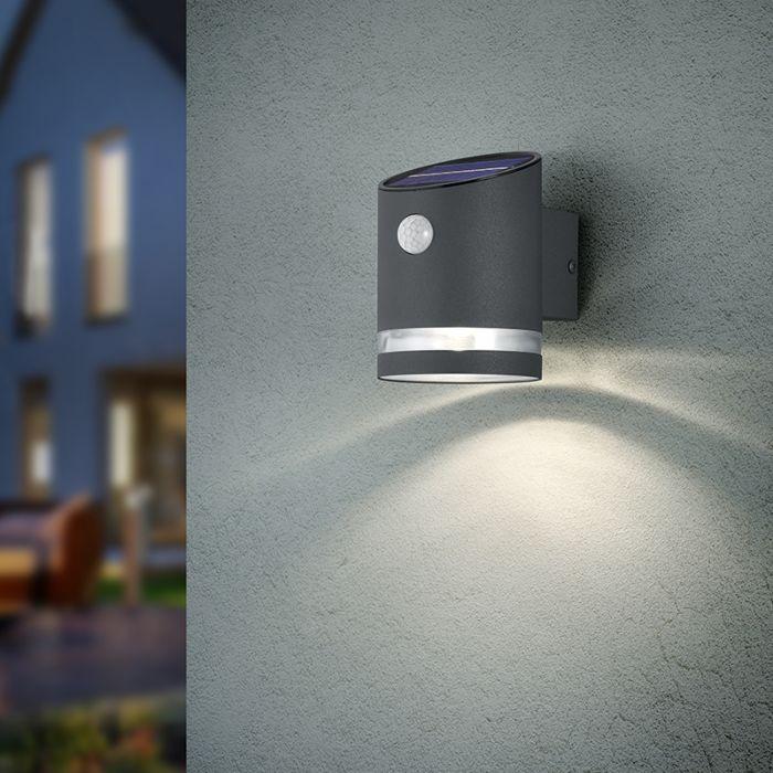 Buitenwandlamp-antraciet-met-bewegingssensor-op-solar---Sal