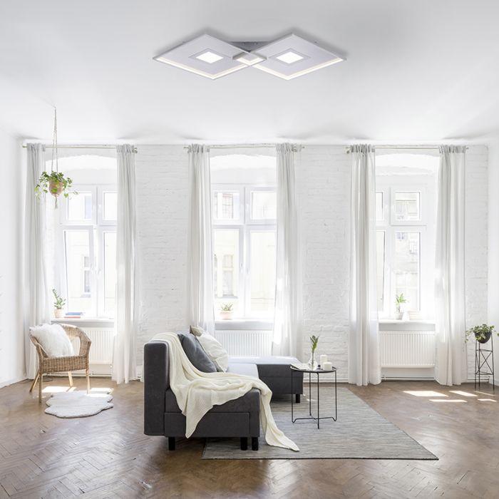 Plafondlamp-staal-incl.-LED-en-afstandsbediening---Odile