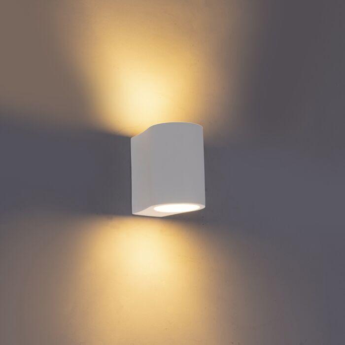 Moderne-wandlamp-wit---Gypsy-Tubo