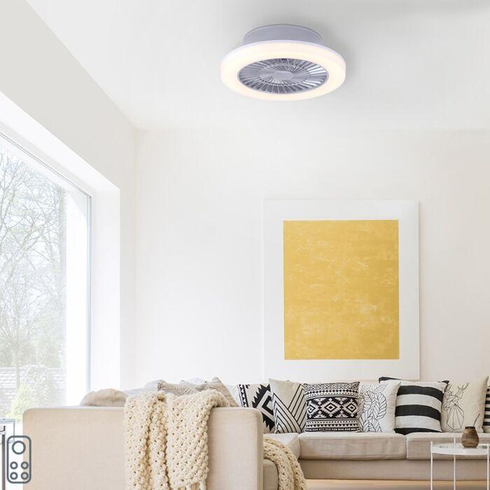 Design-plafondventilator-grijs-incl.-LED---Maki