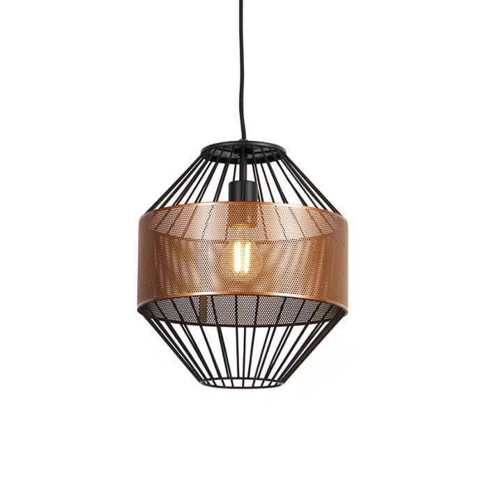Design-hanglamp-koper-met-zwart-30-cm---Mariska