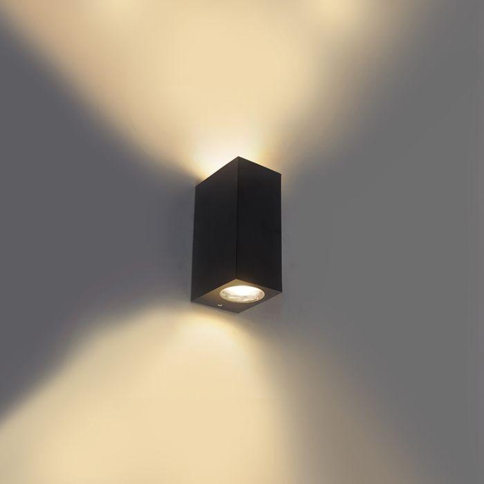 Moderne-wandlamp-zwart-IP44---Baleno-II