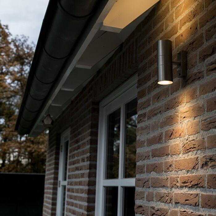 Buitenlamp-Duo-staal