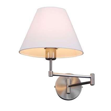 Wandlamp-Swing-staal-met-kap